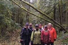 HHA members doing a walking survey of trail conditions